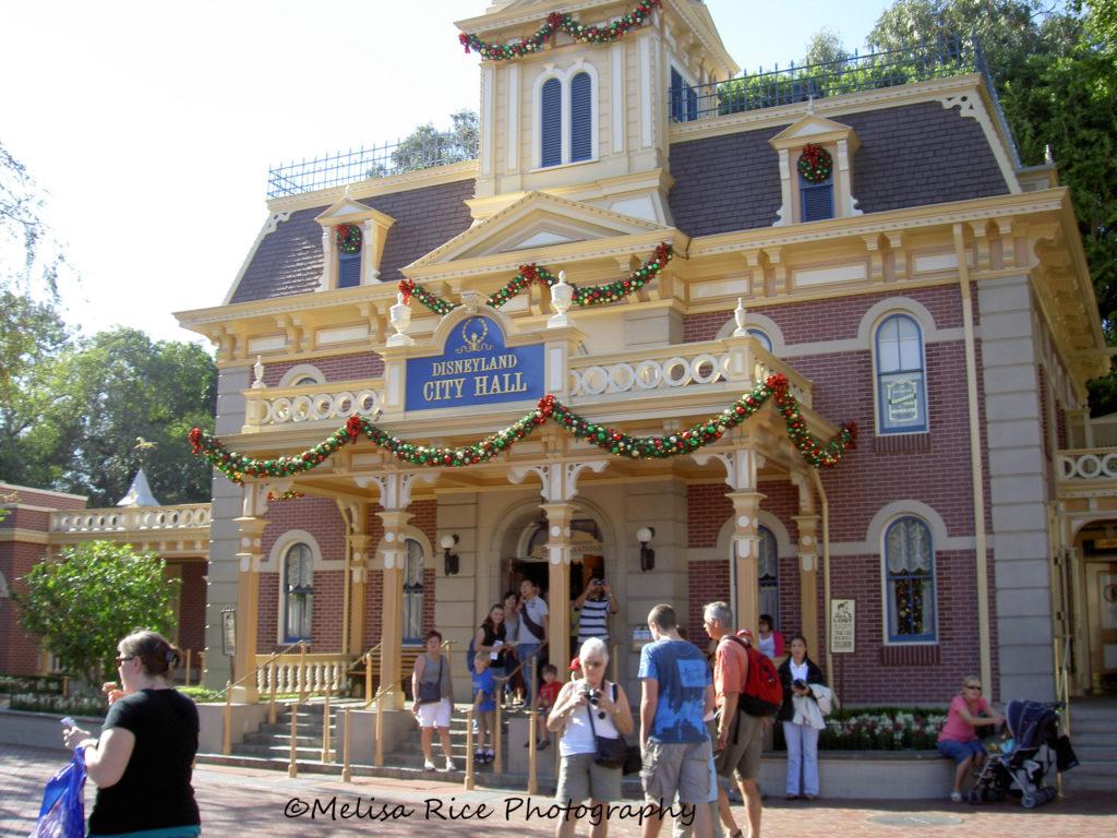 City Hall Guest Relations. Main Street USA Disneyland. disability treatment
