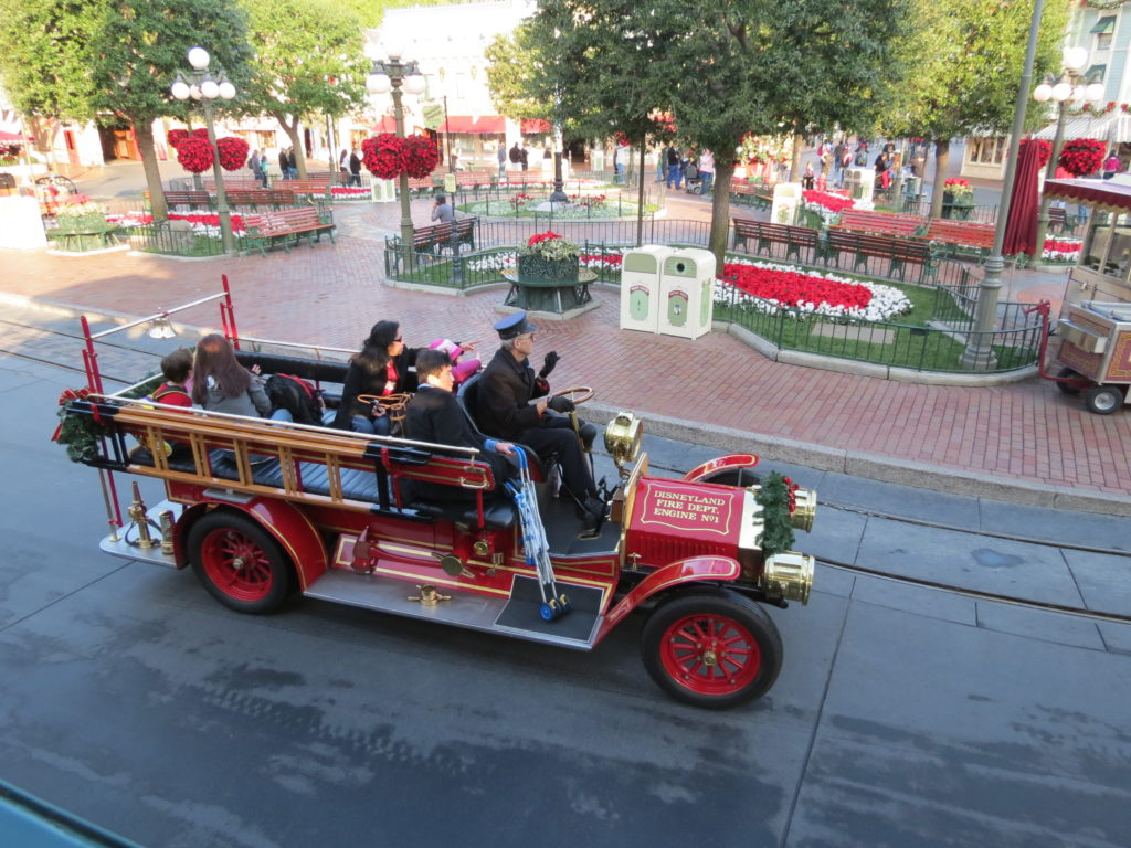 Fire Engine Disneyland Main Street Modes of Transportation