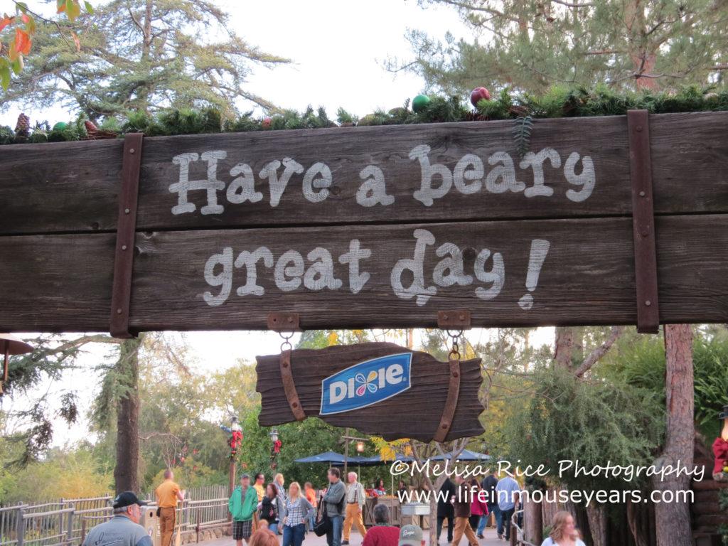 Hungry Bear Restaurant sign. Disneyland
