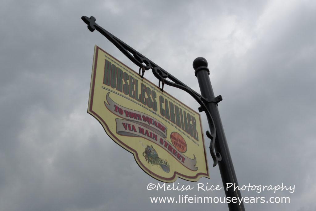 sign Disneyland Main Street Modes of Transportation
