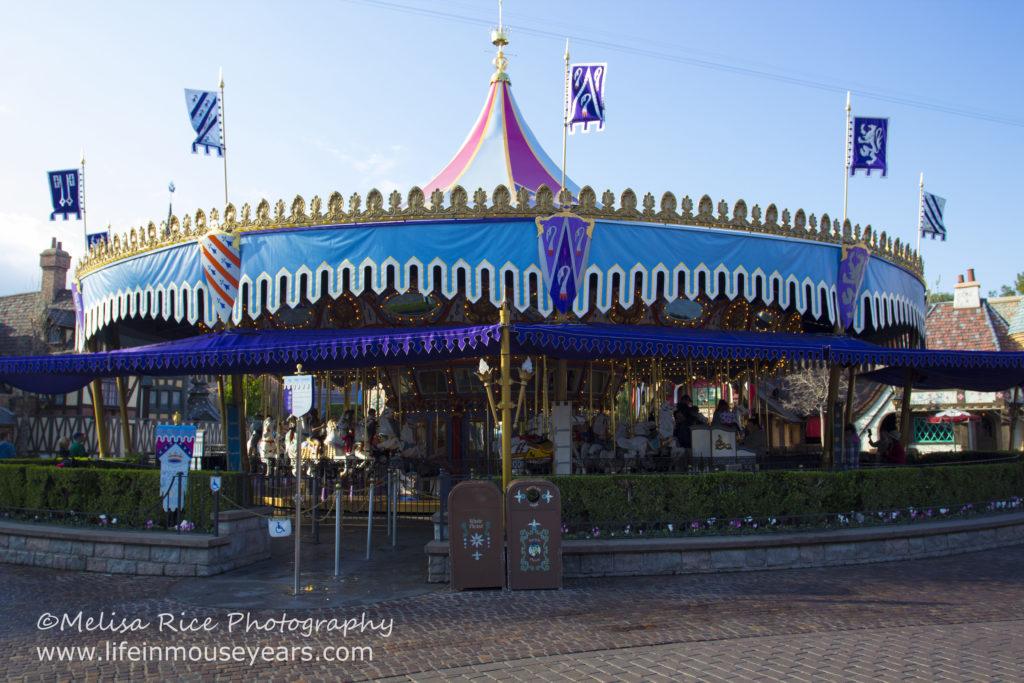 King Arthur's Carousel. Disneyland. Opening day attraction.