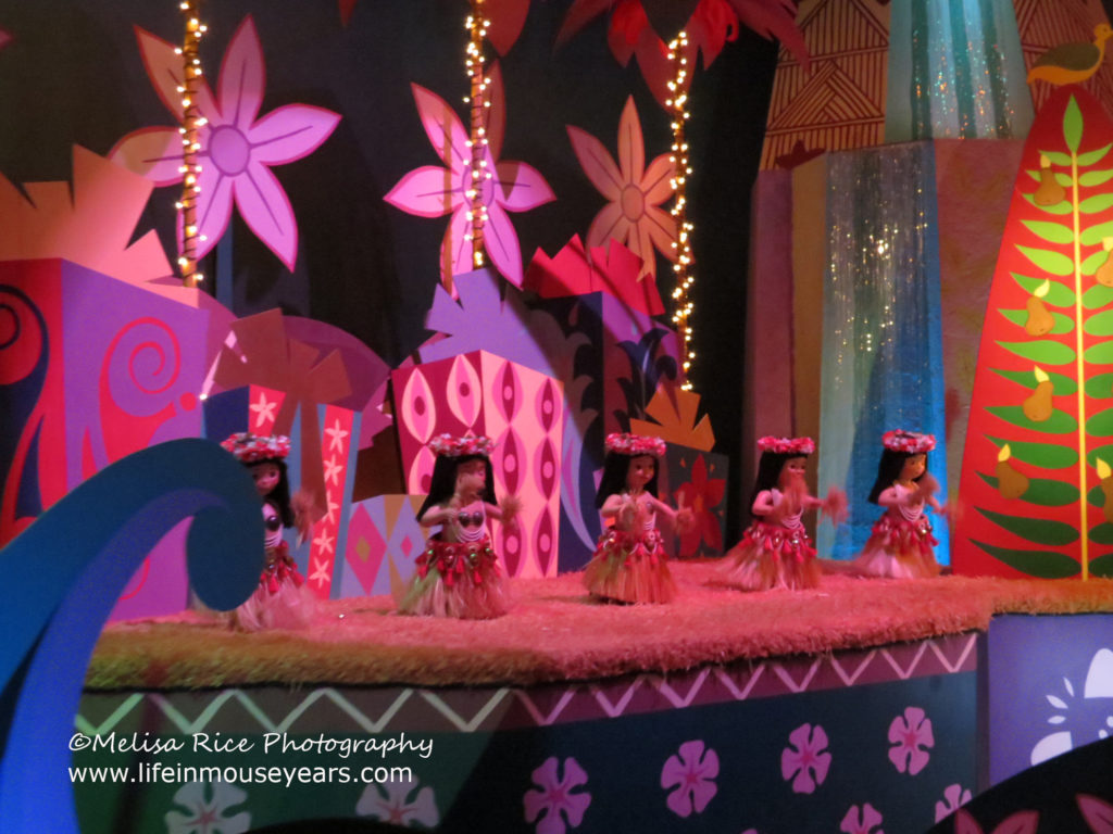 Secrets of It's a Small World. Hawaiian dancers.