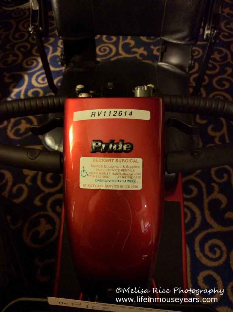 Disneyland Hotel scooter. disability
