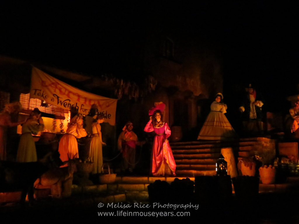 Pirates of the Caribbean Disneyland Turns 51. Auction scene.