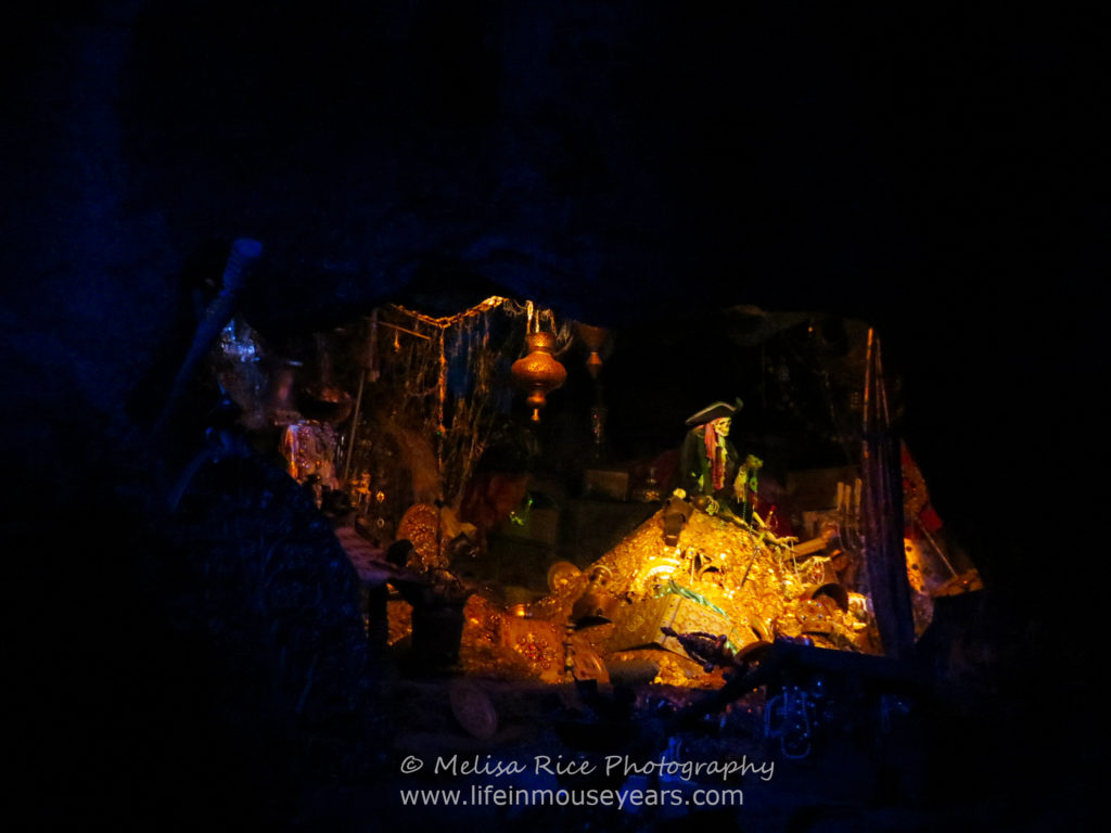 The treasure inside of Pirates of the Caribbean. Pirates of the Caribbean Disneyland Turns 51
