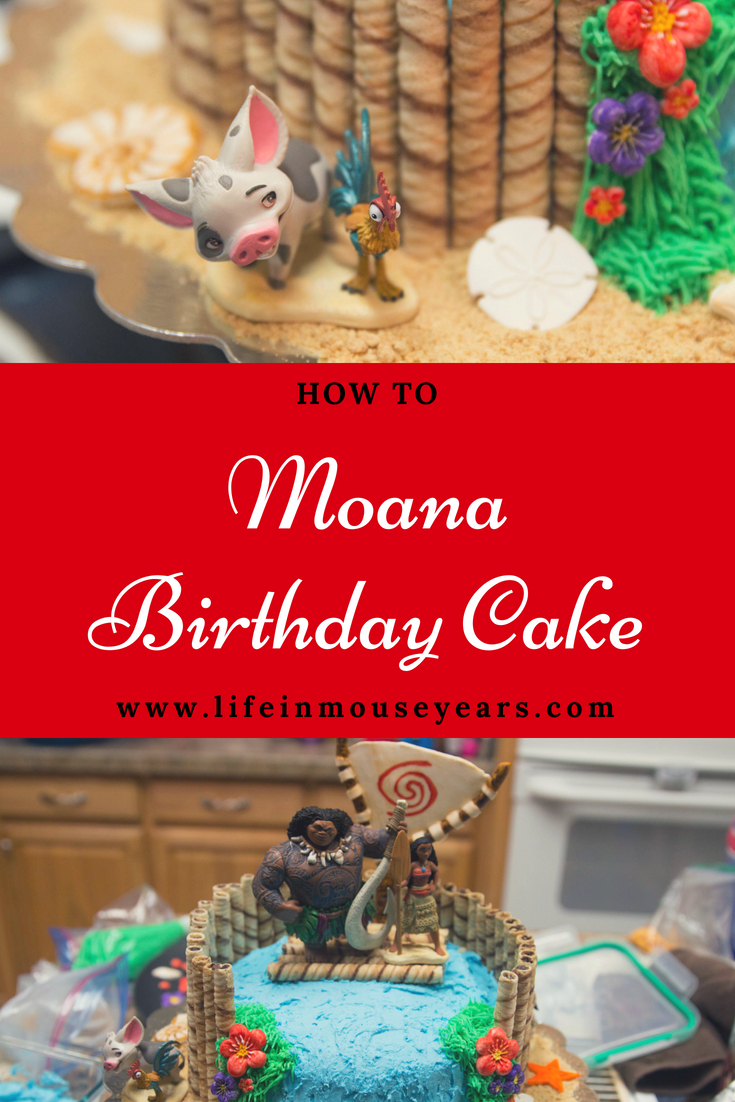 How To Moana Birthday Cake Life In Mouse Years