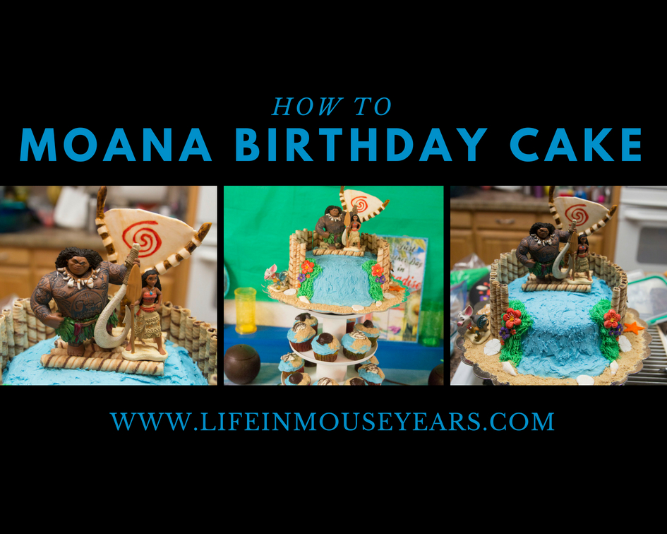 How To Moana Birthday Cake Collage 1