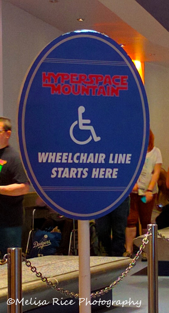 Handicapped wheelchair entrance to Space Mountain. Disneyland handicapped system. www.lifeinmouseyears.com #lifeinmouseyears #disneyland #disneylandhandicappedsystem #spacemountain