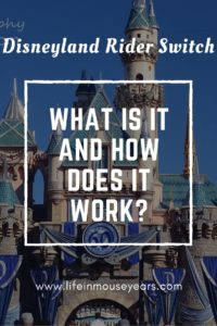Disneyland Rider Switch-What is it and how does it work?