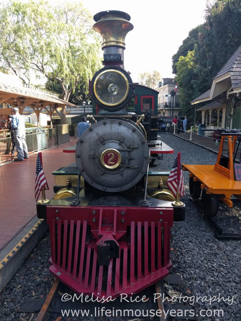 Secrets About the Disneyland Railroad. Steam train.
