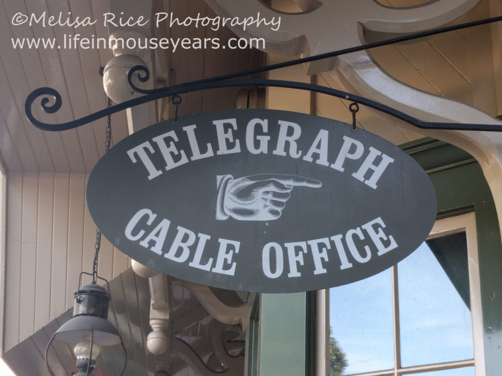 Secrets About the Disneyland Railroad. Steam train. sign