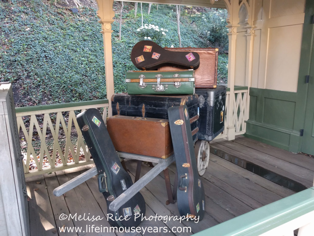 Secrets About the Disneyland Railroad. luggage props. New Orleans Square