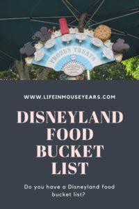Disneyland food bucket list