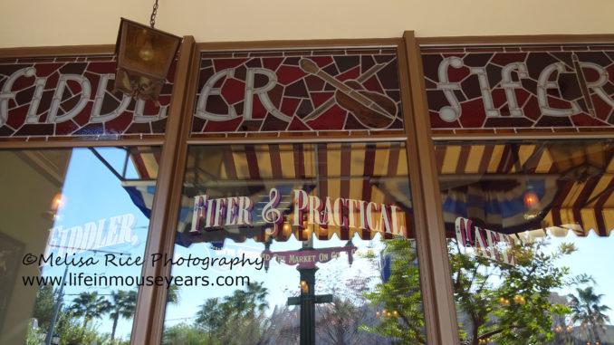 Fiddler, Fifer & Practical Cafe. California Adventure.