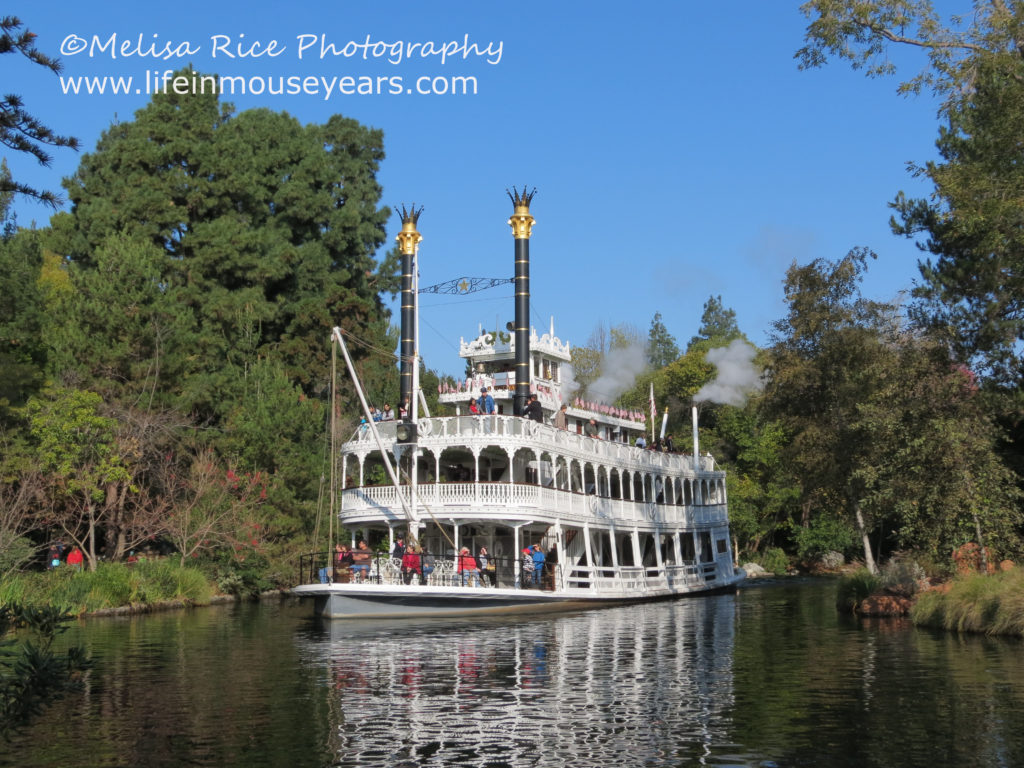 Mark Twain Steamboat. Disneyland. Opening day attraction.