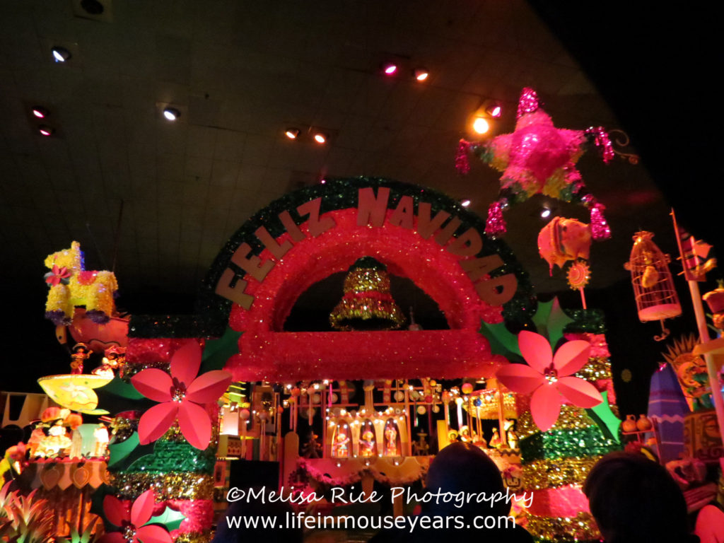 Part of Mexico inside of It's a Small World Holiday in Disneyland Feliz Navidad
