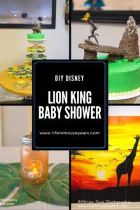 DIY Disney Lion King Baby Shower