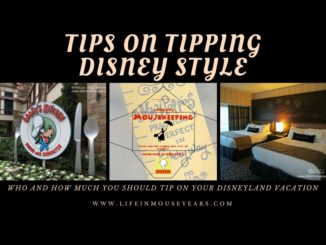 Tips on tipping Disney Style. Disneyland.
