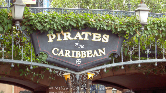 Pirates of the Caribbean turns 51. Entrance sign.