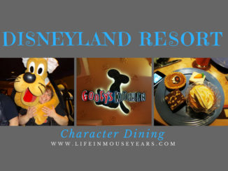 Disneyland Resort Character Dining.