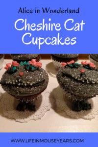 Alice in Wonderland Cheshire Cat Cupcakes www.lifeinmouseyears.com #disney #aliceinwonderland #yum #yummy #homemade