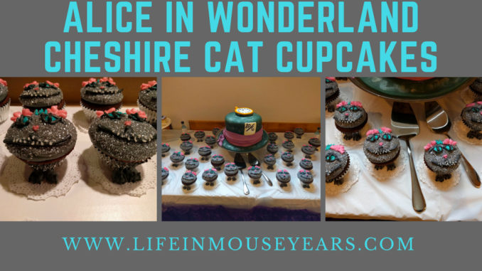 Alice in Wonderland Cheshire Cat Cupcakes