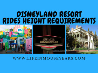 Disneyland Resort Rides Height Requirements