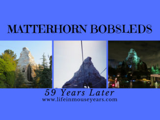 Matterhorn Bobsleds 59 Years Later