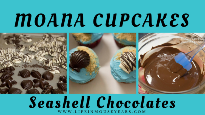 Moana Cupcakes Seashell Chocolates