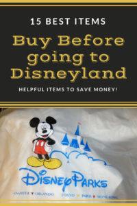 15 Best Items to Purchase Before Going to Disneyland. www.lifeinmouseyears.com #disneyland #california #buybeforetrip