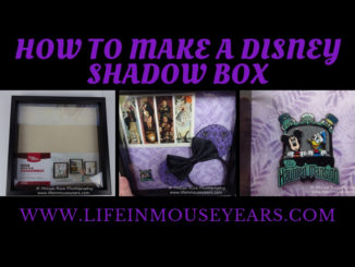 How to Make a Disney Shadow Box. Haunted Mansion www.lifeinmouseyears.com #lifeinmouseyears #disneyland #disney #disneyshadowbox #hauntedmansion #hauntedmansionshadowbox #shadowbox #crafting #diy #disneyfun #makesomethingmagical #diycrafts