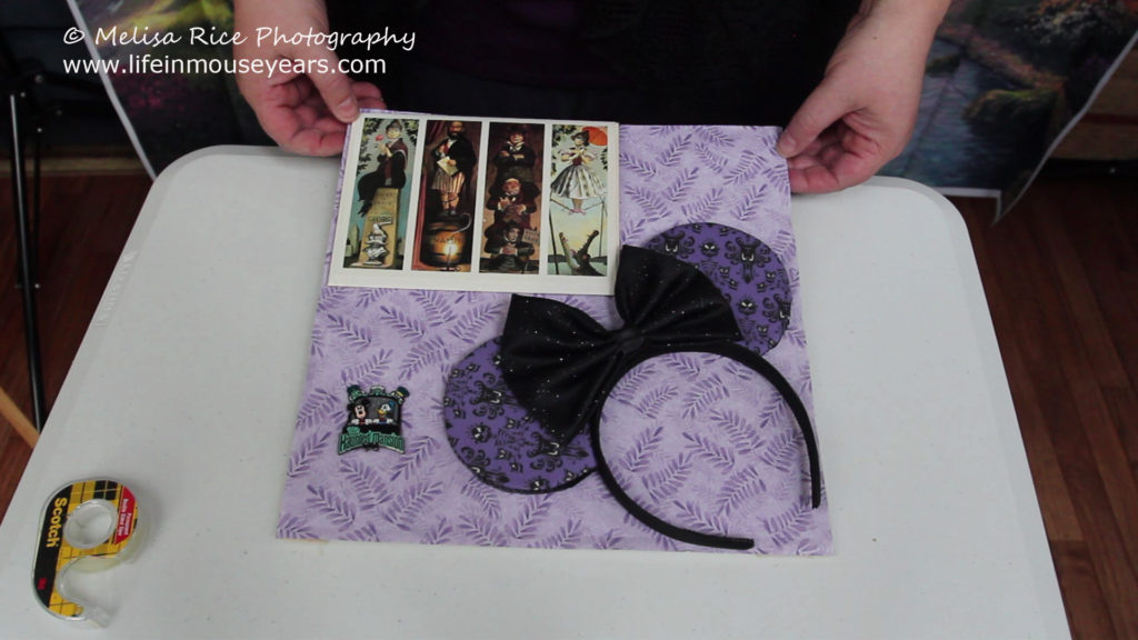 How to Make a Disney Shadow Box. Haunted Mansion www.lifeinmouseyears.com #lifeinmouseyears #disneyland #disney #disneyshadowbox #hauntedmansion #hauntedmansionshadowbox #shadowbox #crafting #diy #disneyfun #makesomethingmagical #diycrafts