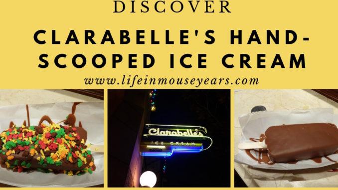 Discover Clarabelle's Hand-Scooped Ice Cream www.lifeinmouseyears.com #lifeinmouseyears #dca #californiaadventure #clarabelles #icecream #food #yumm #yummy