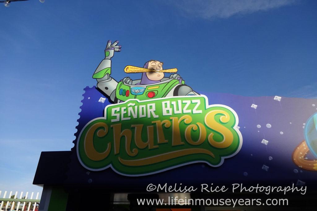 Exploring Pixar Pier www.lifeinmouseyears.com #lifeinmouseyears #pixarpier #californiaadventure #seniorbuzzchurros #buzzlightyear #churros #yum #yummy #tasty