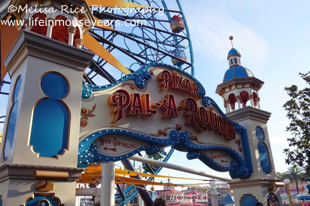 Exploring Pixar Pier www.lifeinmouseyears.com #lifeinmouseyears #pixarpier #californiaadventure #pixarpalaround #ferriswheel #fun #dontlookdown