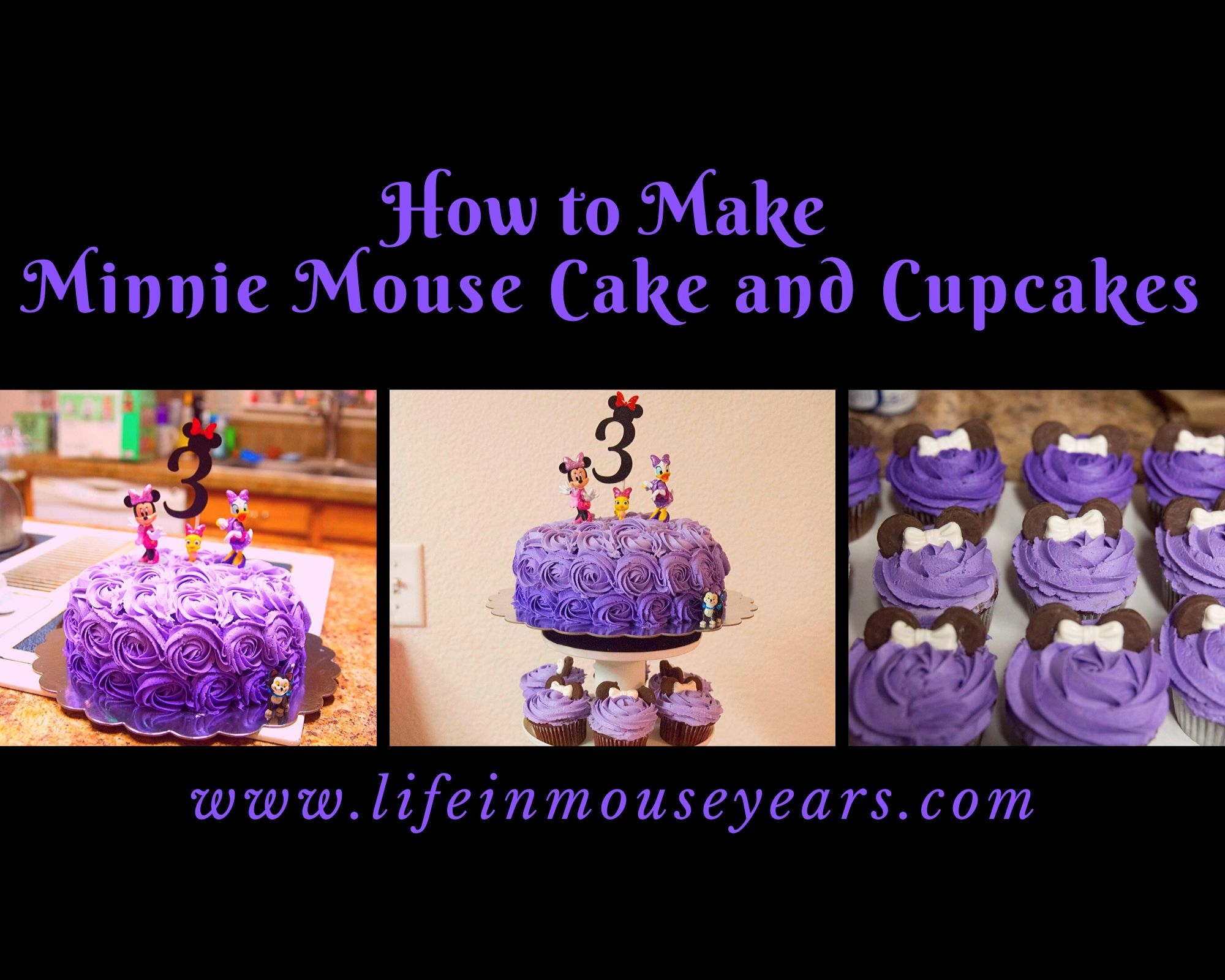 Terrific How To Make Minnie Mouse Cake And Cupcakes Life In Mouse Years Funny Birthday Cards Online Barepcheapnameinfo