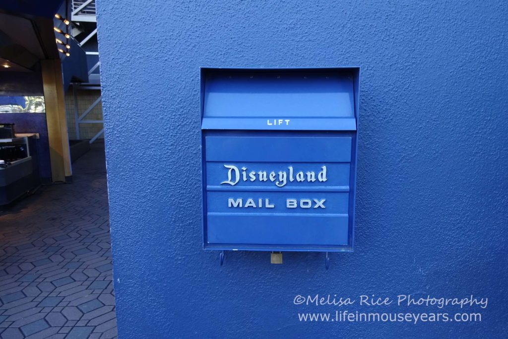 www.lifeinmouseyears.com #lifeinmouseyears #disneyland #mailboxes #tomorrowland